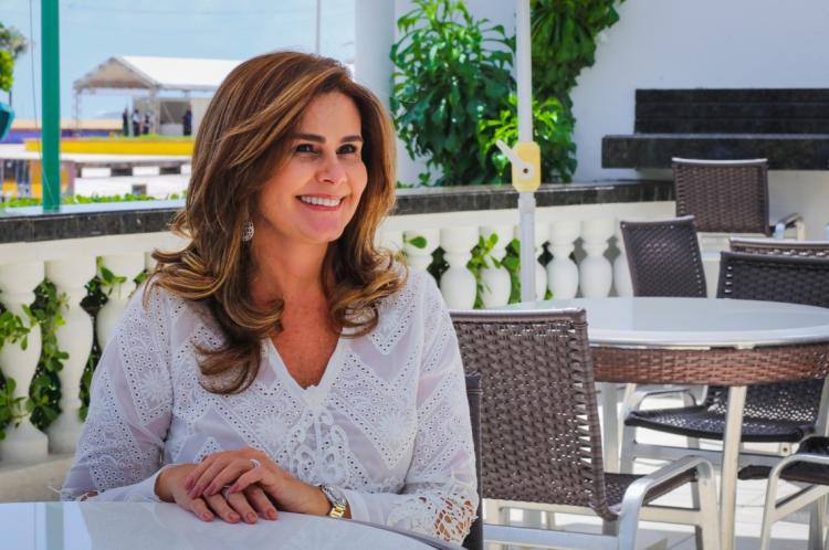 Ivana Bezerra, presidente do Visite Ceará e diretora do Hotel Sonata (Foto: Camila de Almeida/O POVO)
