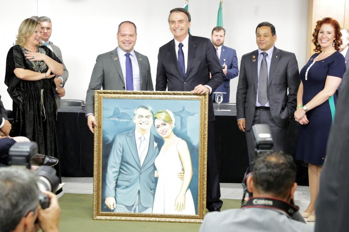 O fato ocorreu em encontro de congressistas do PSL com o presidente. (Foto: Divulgação)