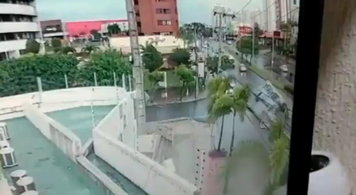 Vídeo mostra momento do acidente