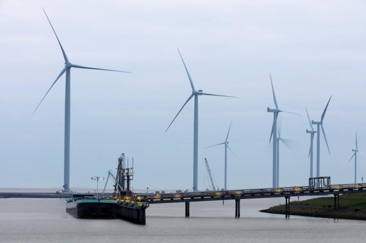 A geração de energia eólica offshore é usada na Europa