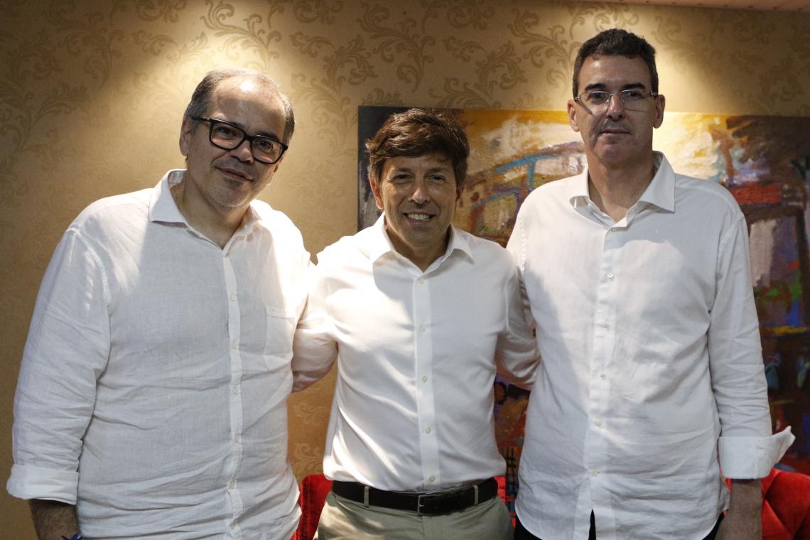 Dummar Neto, João Amoêdo e Geraldo Luciano