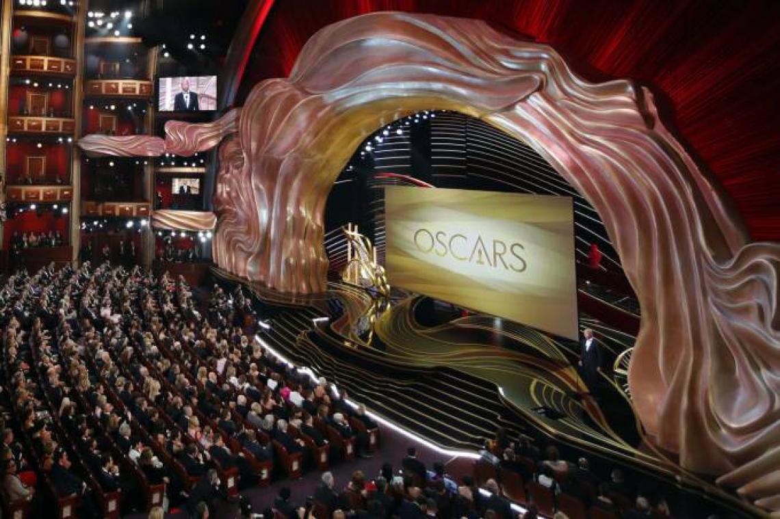 Palco do Dolby Theater decorado para o 91º Oscar. (Foto: Reprodução)