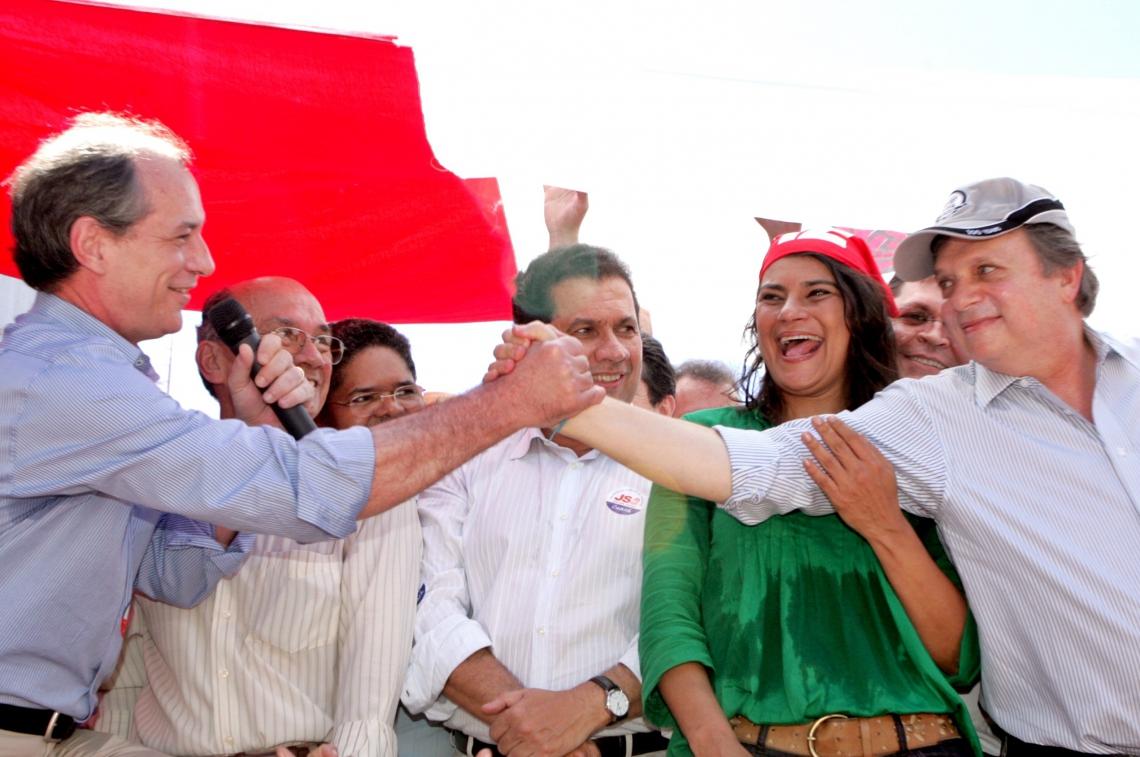 Ciro e Tasso na última eleição em que foram aliados, em 2008, a favor de Patrícia Saboya