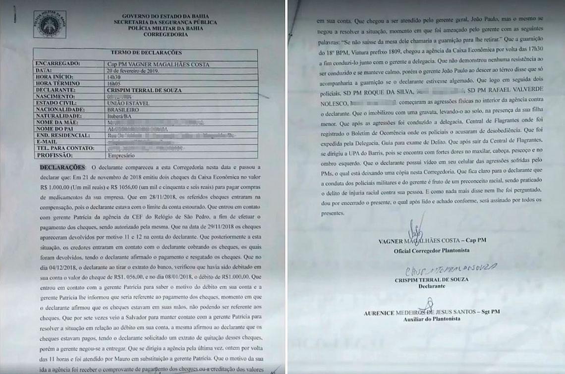 Registro na Corregedoria da PM