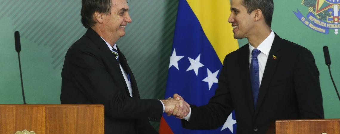 JAIR BOLSONARO recebeu Juan Guaidó no Palácio do Planalto ontem