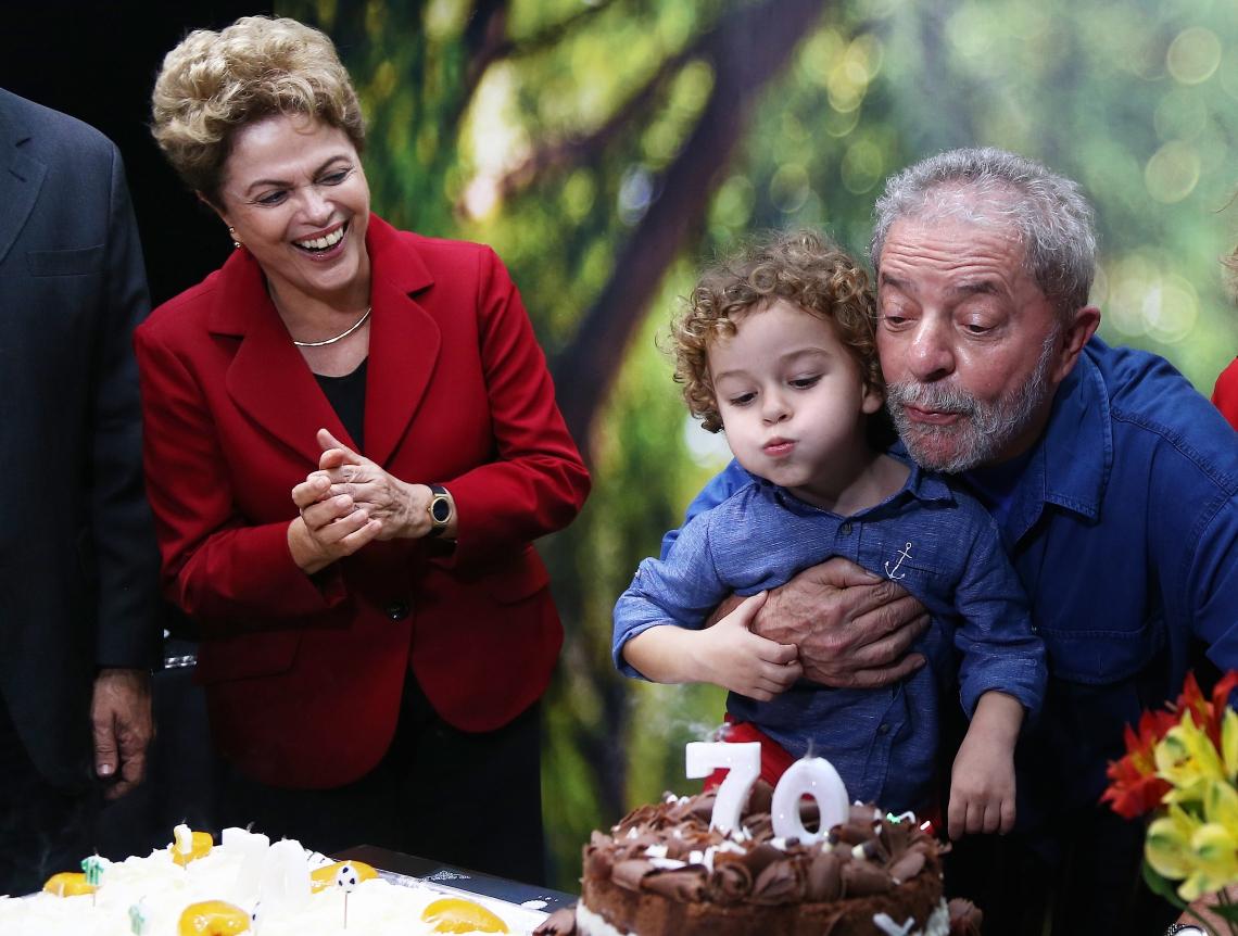 O ex presidente Lula comemorando seu aniversário de 70 anos (Foto: Ricardo Stuckert/ Instituto Lula)