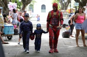 FORTALEZA, CE, BRASIL, 02-03-2019: Carnaval infantil em Fortaleza no pólo do Passeio Público com Trio Aquarela. (Foto: Marília Camelo/ Especial O POVO)