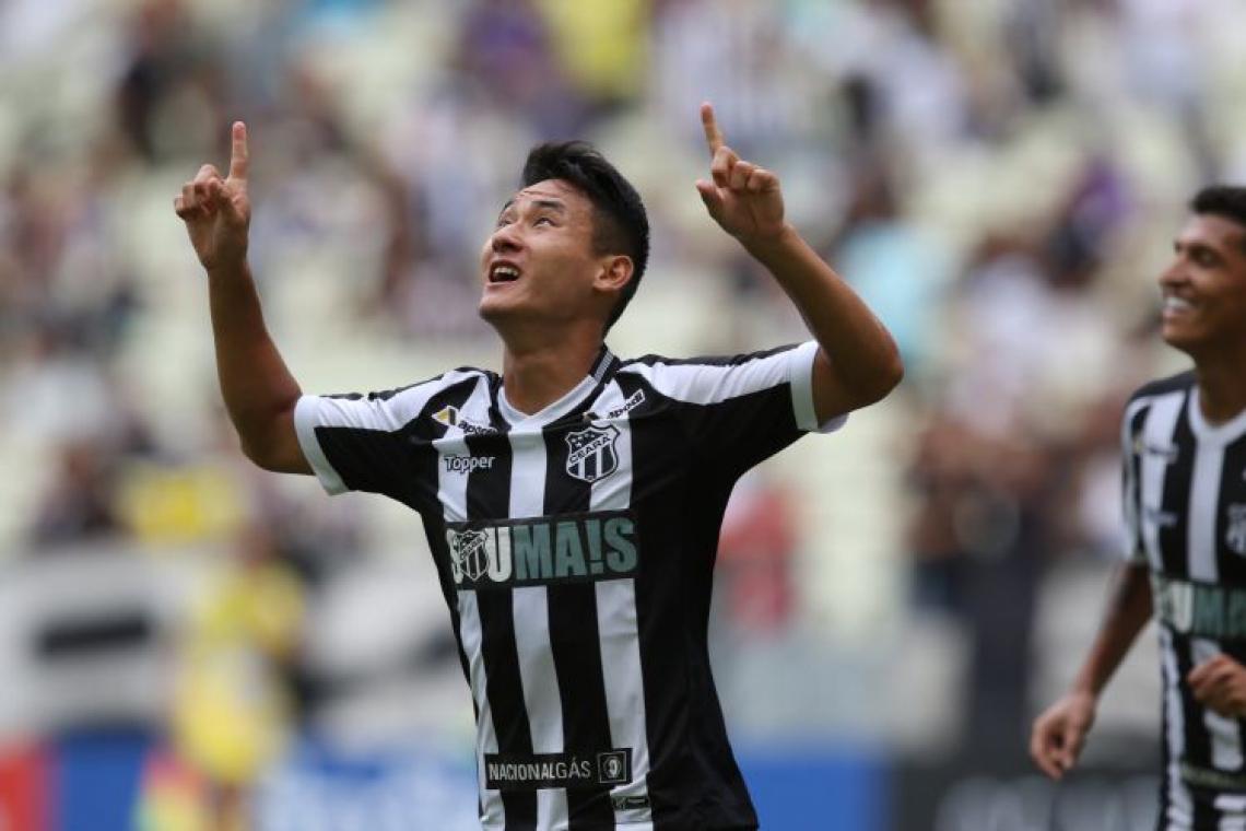 Chico marcou o único gol do jogo na Arena Batistão (Foto: Mateus Dantas/O POVO)