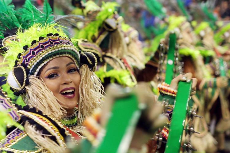 SÃO PAULO -  02/03/2019 Desfile da escola de samba  Mancha Verde, em 2019 (Foto: WERTHER SANTANA / Agência Estado)
