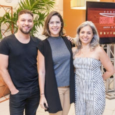 Phelipe Carvalho, Joana Ramalho e Cláudia Magalhães