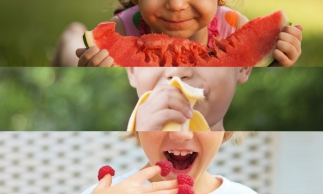 Banana is a fruit with many nutrients. Children should eat