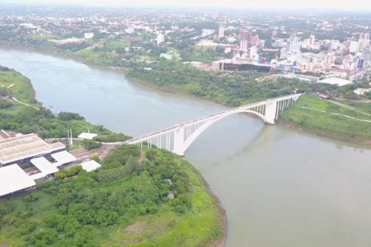 Ponte da Amizade entre o Brasil e Paraguai. ( Divulgação/YouTube) (Foto: Divulgação/YouTube)