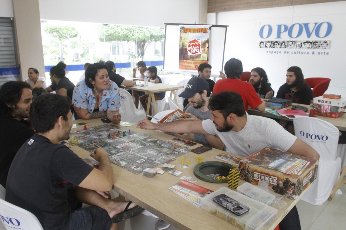 FORTALEZA, CE, BRASIL, 08-03-2019: Jogadores de RPG no espaço cultural O Povo. (Foto: Evilázio Bezerra/O POVO)