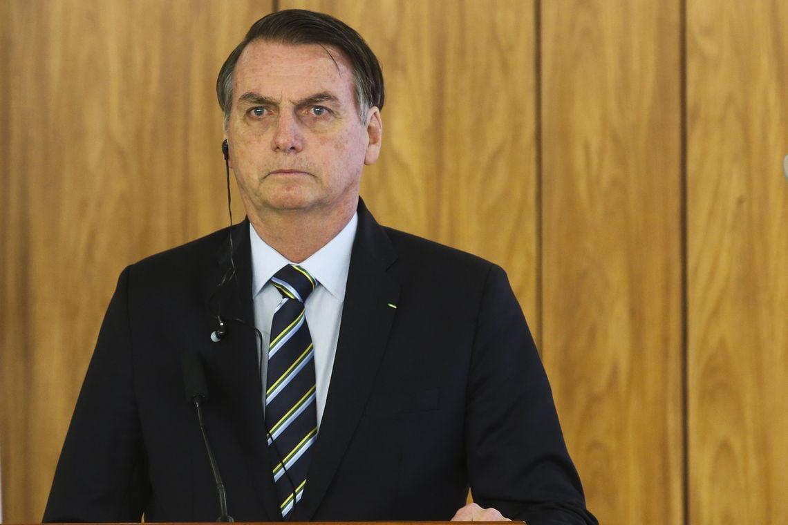 O presidente Jair Bolsonaro recebeu o presidente do Paraguai, Mario Abdo Benítez, no Palácio do Planalto, em Brasília