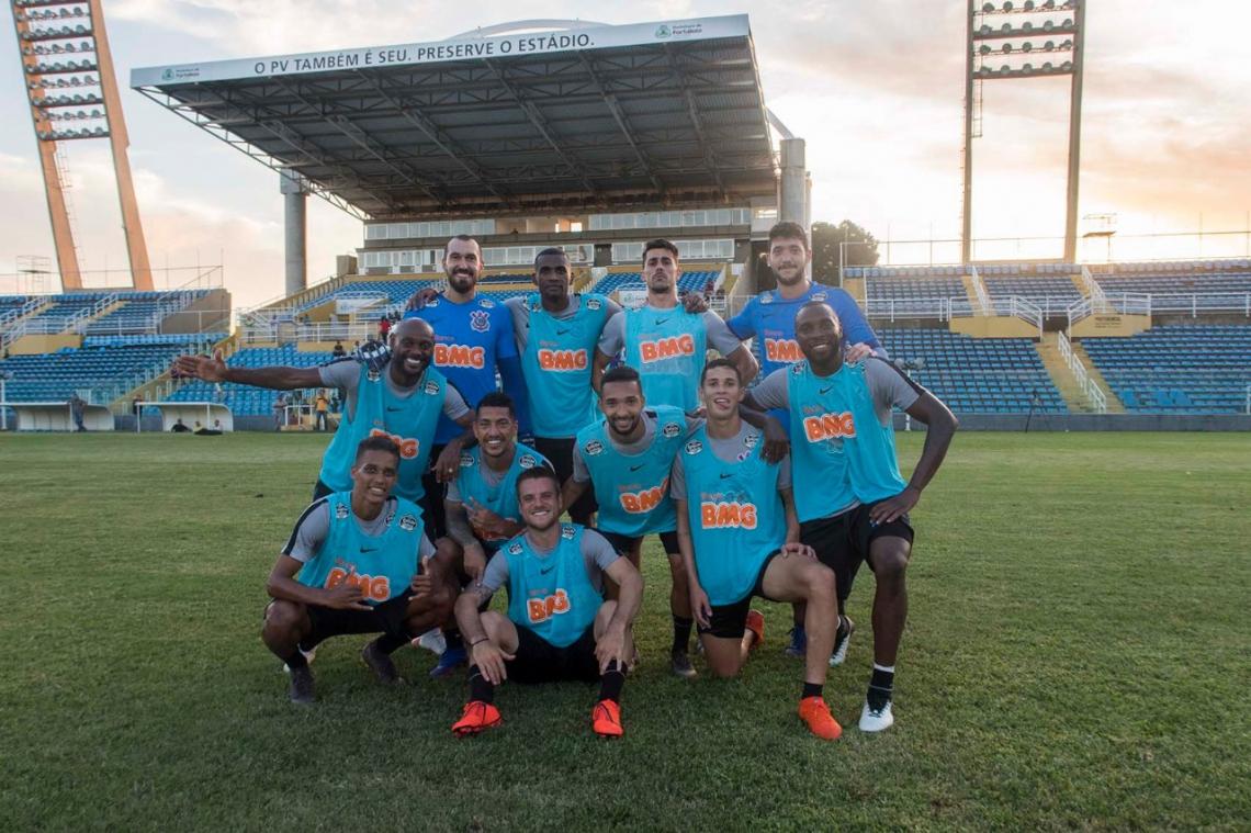 Delegação do Corinthians fez o treino de apronto no estádio Presidente Vargas. Foto: Daniel Augusto Jr. / Agência Corinthians