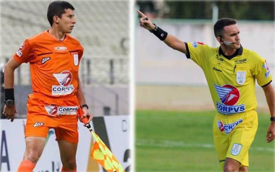 Nailton Oliveira (esquerda) e Adriano Barros (direita) poderão trabalhar no VAR em competições da CBF caso aprovados. Fotos: Pedro Chaves/Canal da Bola