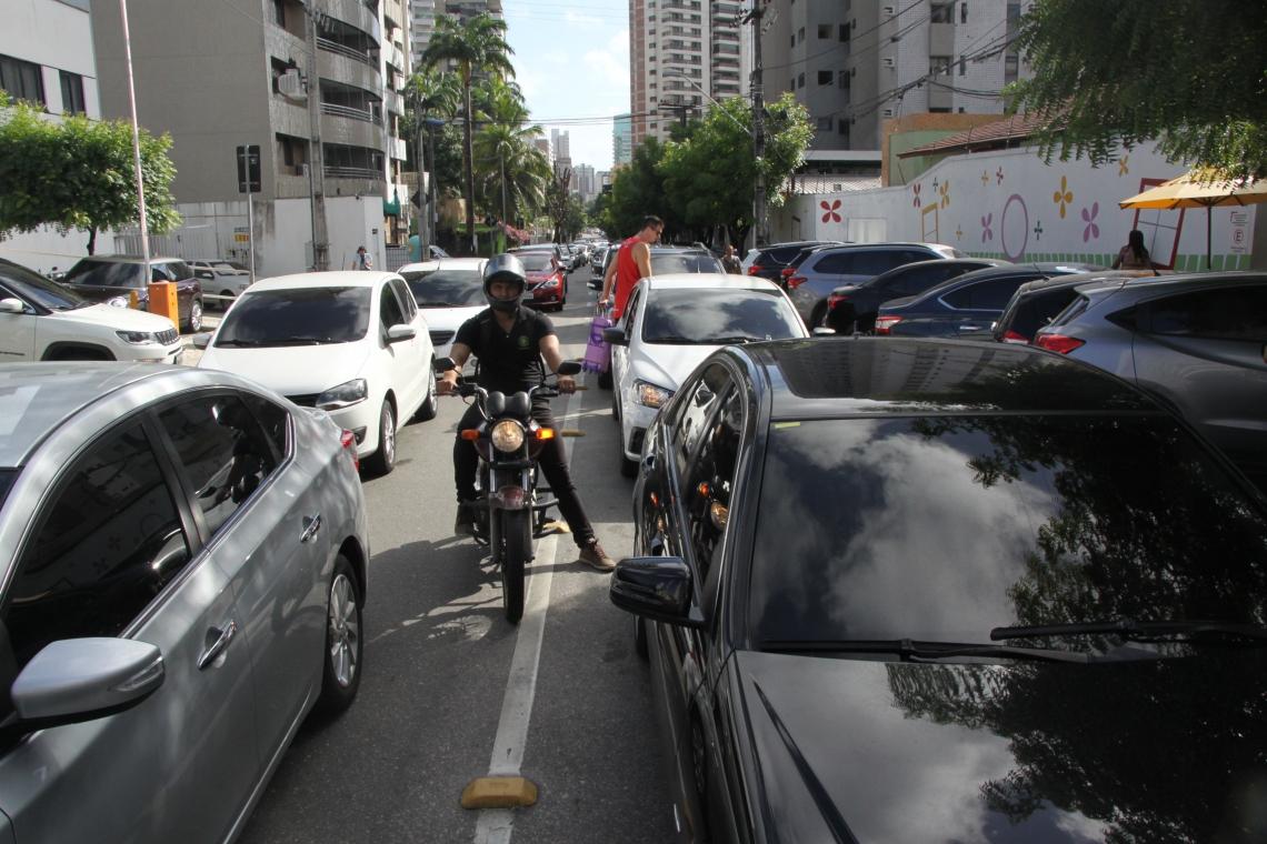A AMC não recebeu nenhum chamado que identificasse problemas no trânsito. (Foto: Mauri Melo/O POVO)