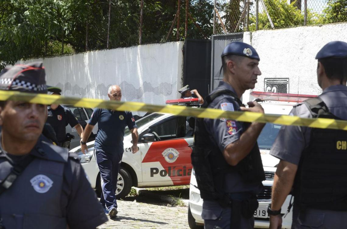 O tiroteio na Escola Estadual Professor Raul Brasil, em Suzano, deixou mortos e feridos (Foto: Rovena Rosa/Agência Brasil)