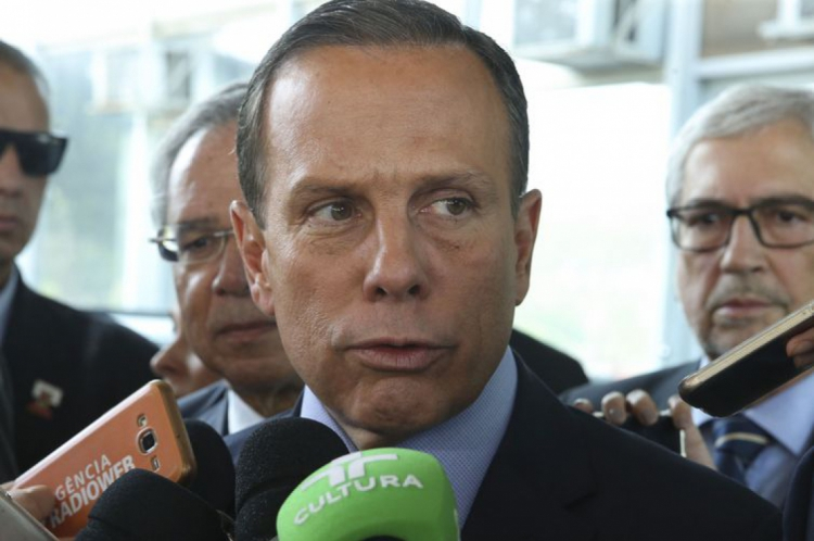 O governador de São Paulo, João Doria, durante entrevista(Foto: Valter Campanato/Agência Brasil)