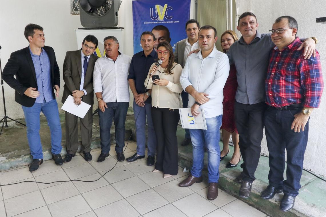 Eleição da nova diretoria da União Dos Vereadores Do Ceará aconteceu nesta sexta-feira, 15. (Foto: Mateus Dantas / O Povo)