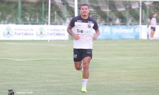 Thiago Carleto tem treinado, mas não entrou em campo pelo Ceará ainda. Foto: Cearasc.com/Divulgação.