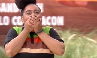Rízia foi vencedora da sétima prova do anjo do BBB19. (Foto: Reprodução/Globo Play)