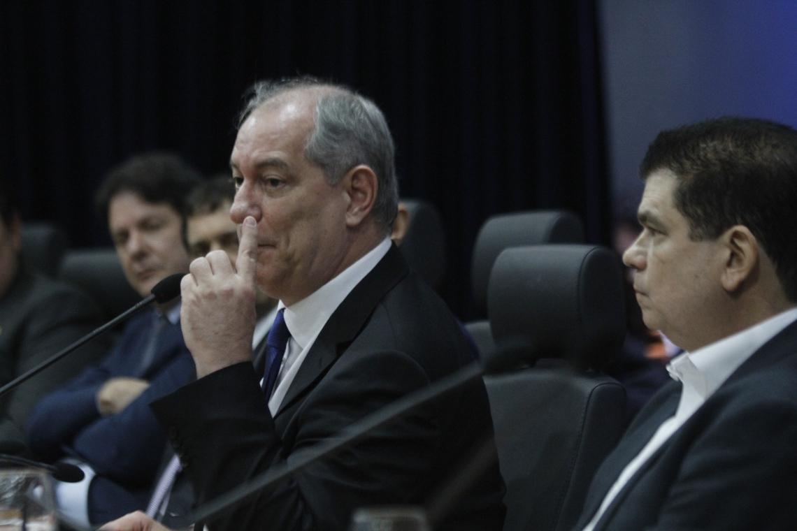 o Ex-presidenciável participou de audiência sobre a reforma da Previdência na Assembleia Legislativa do Ceará (AL-CE). (Foto: Evilázio Bezerra/O POVO)
