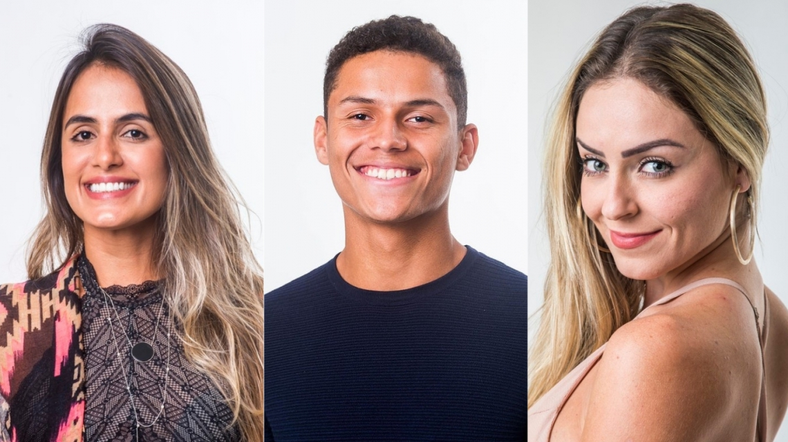 Carolina, Danrley e Paula se enfrentam no paredão do BBB19. Vote na enquete.  (Foto: Divulgação/Gshow)