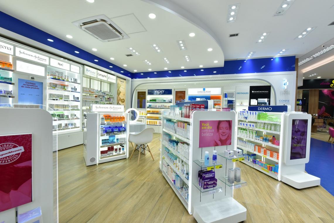 Térreo concentra os produtos de beleza com destaque para o setor imenso de dermocosméticos