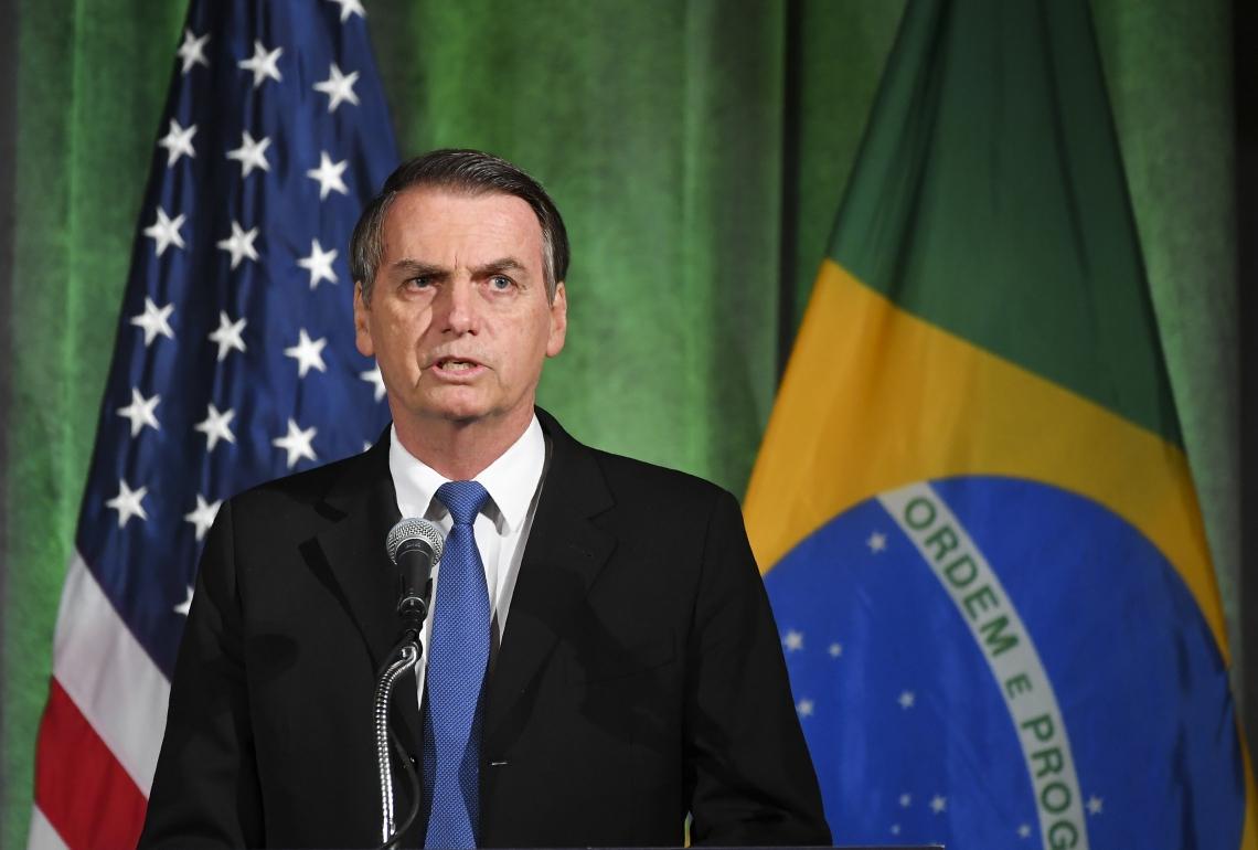 Bolsonaro se reúne nesta terça-feira com Donald Trump (Foto: MANDEL NGAN/AFP)