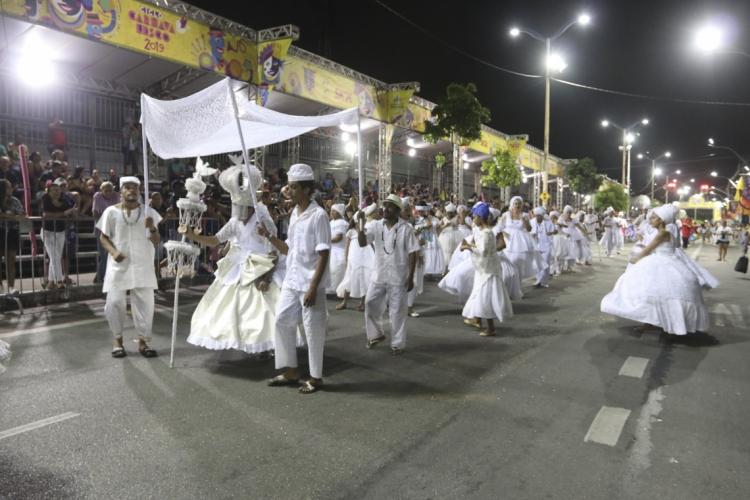 FORTALEZA, CE, BRASIL,  05-03-2019: Desfile dos afoxés na Domingos Olímpio. (Foto: Alex Gomes/O Povo) (Foto: ALEX GOMES)