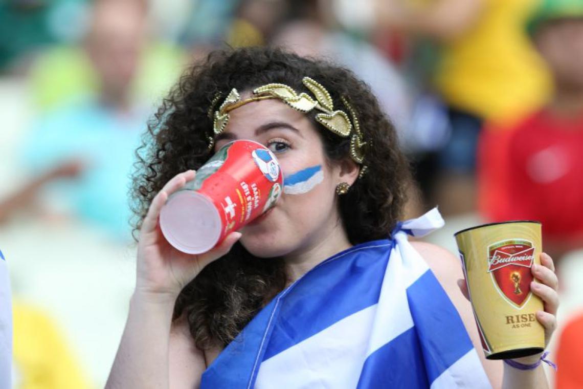 No período da Copa do Mundo, em 2014, a venda de bebidas nos estádios foi permitida