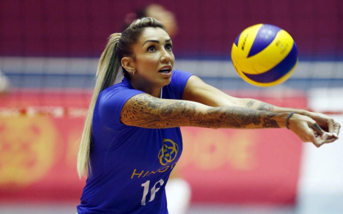 Thaisa é uma das jogadoras mais experientes da liga, contando no currículo o título de bicampeã olímpica pela seleção brasileira