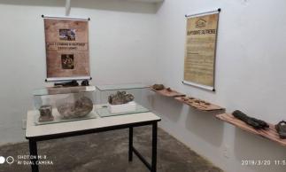 Exposição no recém-inaugurado Museu Geodiversidade de Salitre (Foto: Divulgação/ Museu de Salitre)