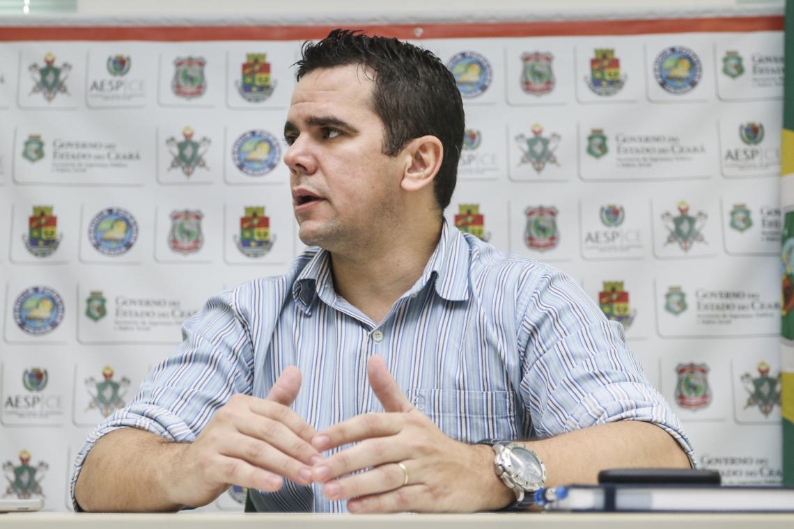 FORTALEZA, CE, BRASIL,  13-03-2019: Aloísio Lira, superintendente de pesquisa e estratégia da SSPDS. (Foto: Alex Gomes/O Povo)