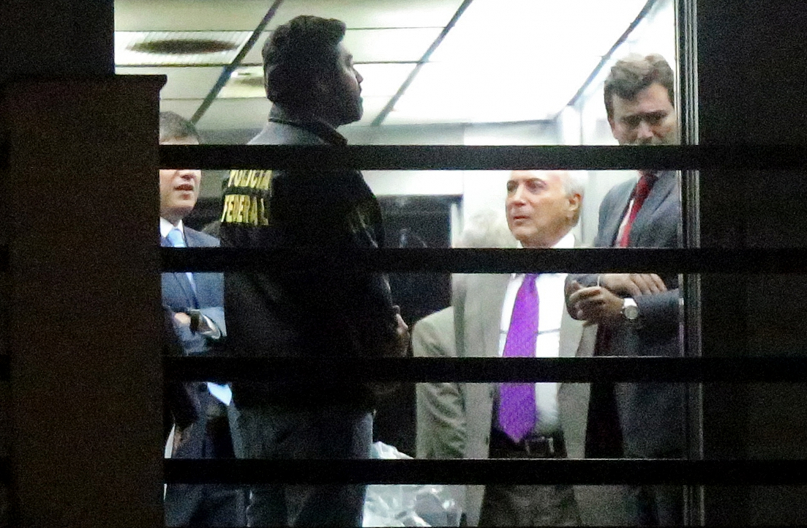 Michel Temer  deixou a sede a Polícia Federal nessa  segunda-feira, 25.