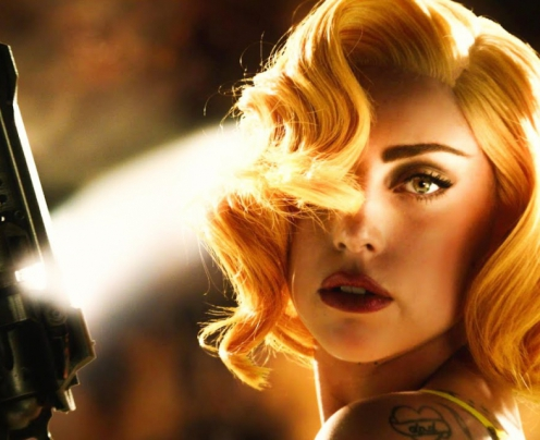 Lady Gaga estreou nos cinemas no filme Machete Kills.