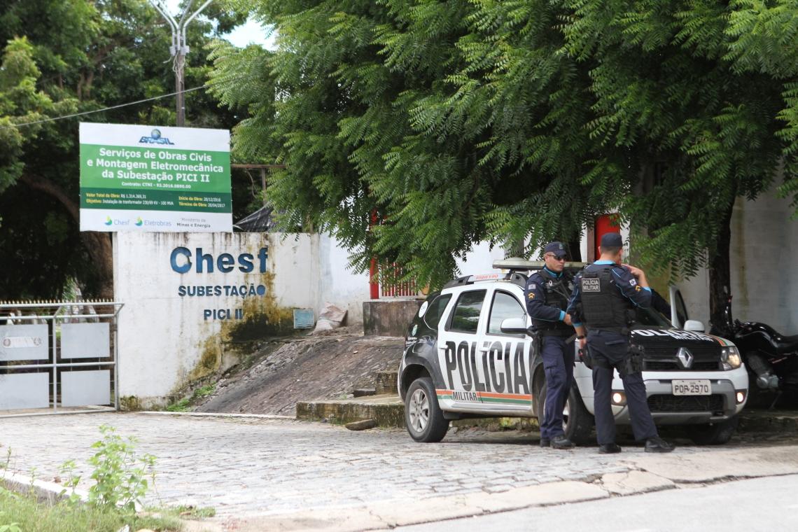 Subestação de energia no bairro Pici foi um dos locais onde aconteceram ataques
