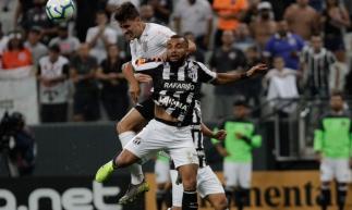 Lance durante a partida entre Corinthians e Ceará, válida pelo Copa do Brasil 2019 na Arena Corinthians em São Paulo (SP), nesta quarta-feira (03).