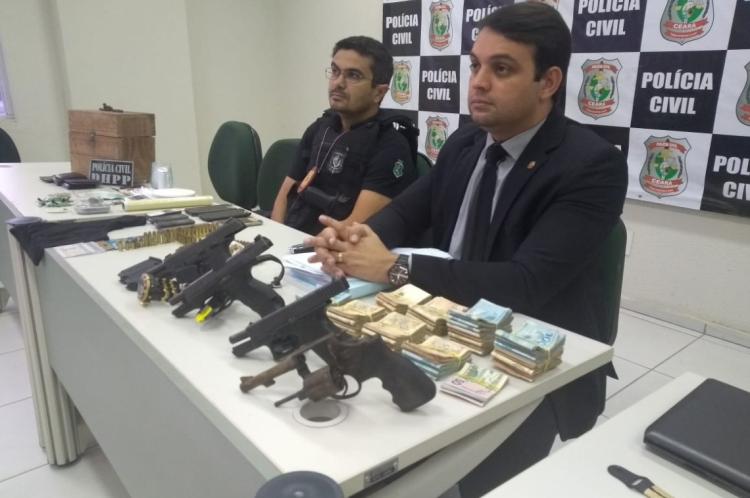 Delegados Jorge Monteiro e Wilson Camelo deram detalhes da investigação em coletiva de imprensa na manhã desta segunda-feira, 8