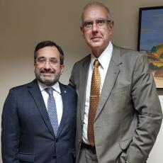 Advogado Jardson Cruz  e o vice-presidente do STM, ministro José Barroso Filho
