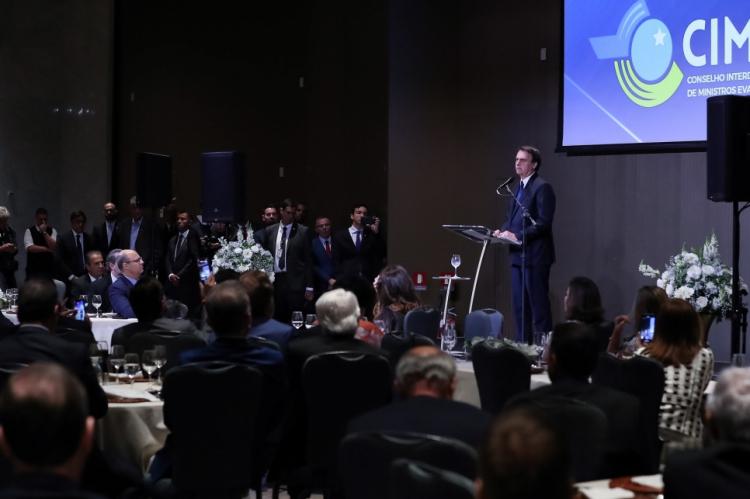 Presidente participou de almoço com participantes do Encontro do Conselho Interdenominacional de Ministros Evangélicos do Brasil (CIMEB)
