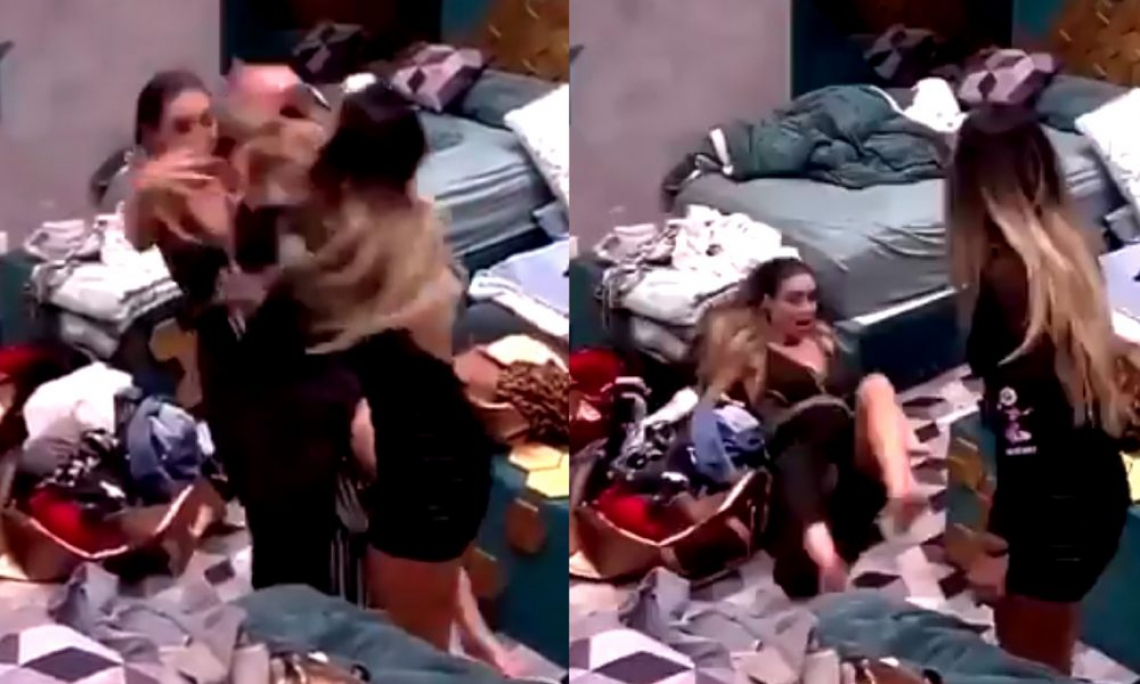 Hariany empurra Paula durante briga.