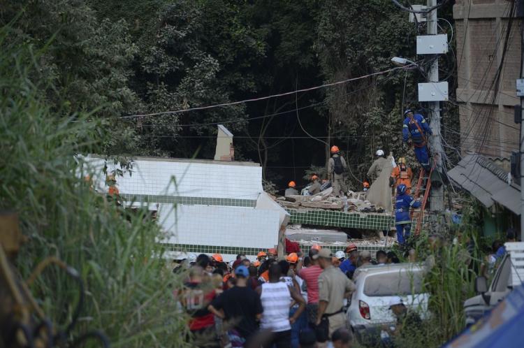 Desabamento de dois prédios na comunidade da Muzema, na zona oeste da cidade do Rio de Janeiro, deixou mortos e feridos.