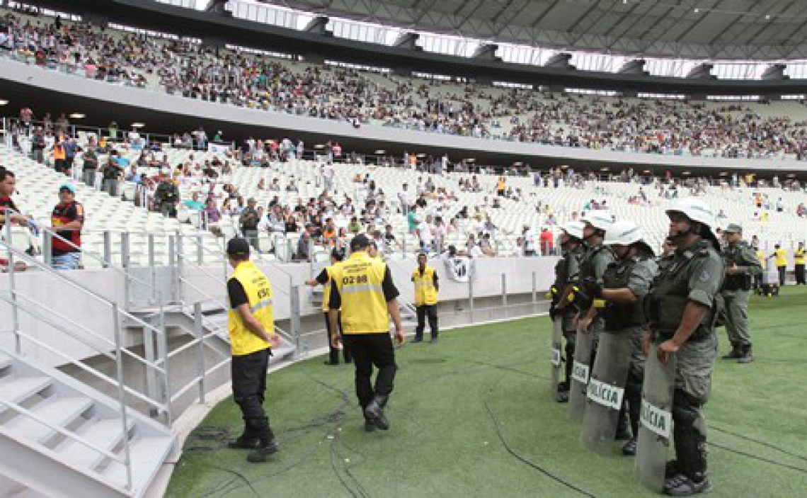 Polícia Militar atuará dentro e fora do Castelão, com um total de 600 homens