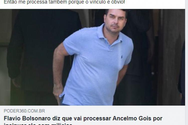 Ciro comentou posição do filho do presidente Jair Bolsonaro