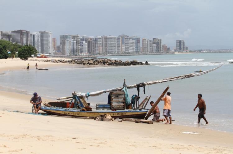 FORTALEZA, CE, BRASIL,09-04-2019:Pescadores do Mucuripe. 180 anos de Dragão do mar.   (Foto: Fabio Lima/O POVO)