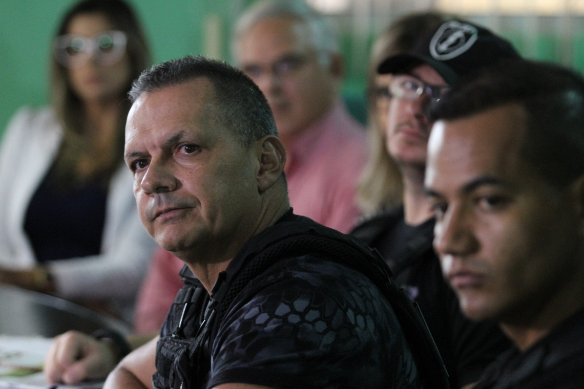 LUIS MAURO Albuquerque, secretário de Administração Penitenciaria, durante entrevista coletiva