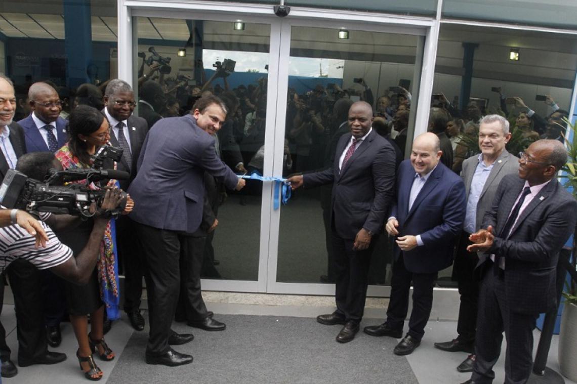 Momento da inauguração do Data Center, na manhã desta terça-feira.