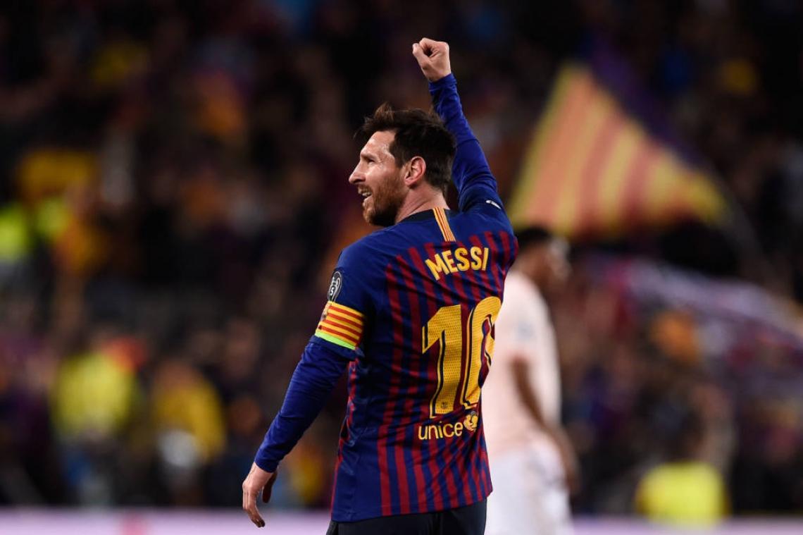 Messi marcou dois dos três gols da classificação do Barça.